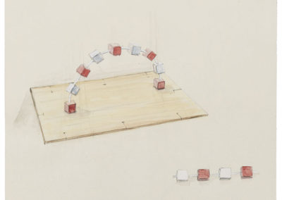 RUDI BOGAERTS 2017 DRAWING Sketch for Arch of Reconstruction