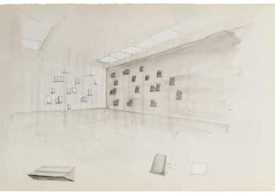 RUDI BOGAERTS 2017 DRAWING Sketch for Blackboard-Whiteboard