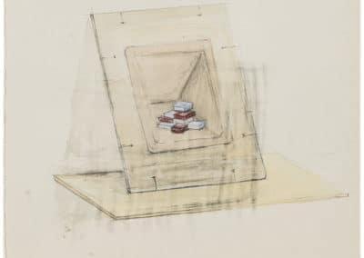 RUDI BOGAERTS 2017 DRAWING Sketch for Bricks