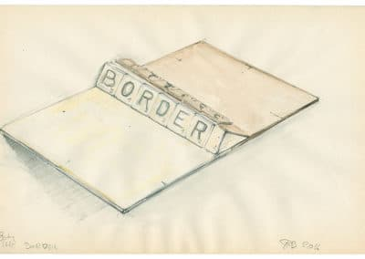 Contemporary art drawing made by Rudi Bogaerts