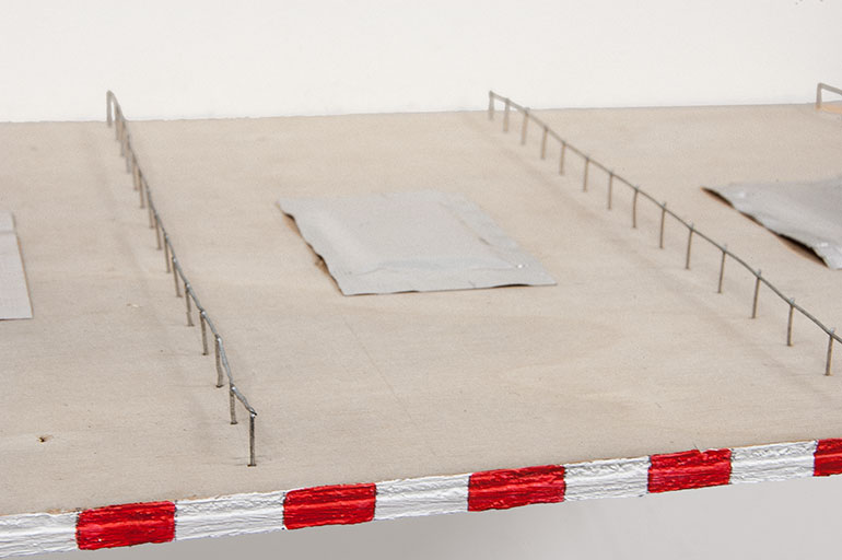 Queue Area (2016), 5 ✕ 29.3 ✕ 19.3 cm (Mixed Media)